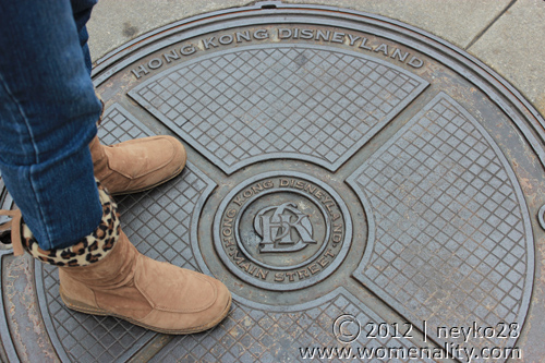 My boots on HongKong Disneyland