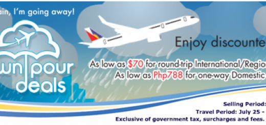 Philippine Airlines Ticket Downpour Deals