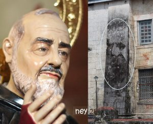 Padre Pio's Image in Baclayon Church, Bohol