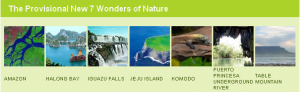 The New 7 Provational Wonders of Nature