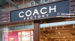 Coach Factory at CityGate Hongkong