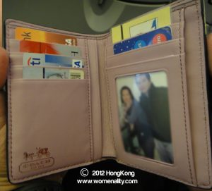 Coach wallet with our picture and cards