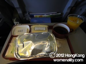 Boeing B747-400 Philippine Airlines meal