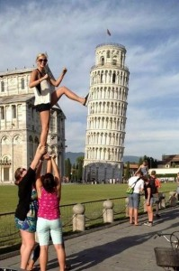 Leaning Tower of Pisa Pose