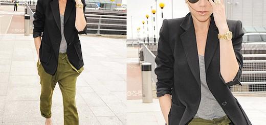 Victoria Beckham wearing gold watch