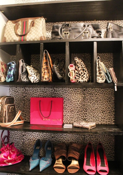 a sophisticated bags and shoe cabinet