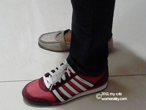 The red KSwiss shoes