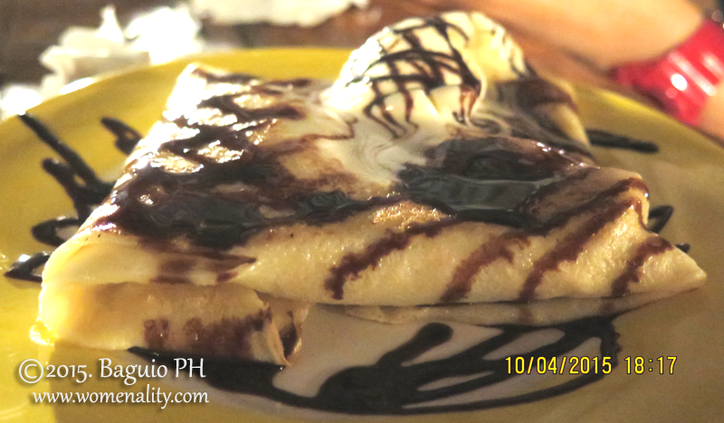 Banana Chocolate with Peanut Butter Crepe Oh! My Gulay, Baguio City PH