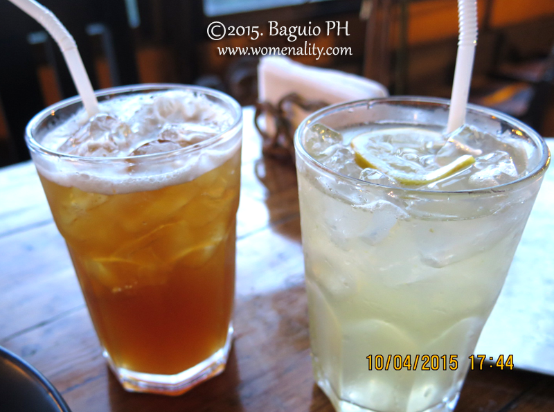 Lemonada and Dayap Iced Tea Oh! My Gulay Baguio City PH