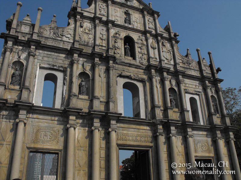 Ruins of St Paul by day, Macau, China
